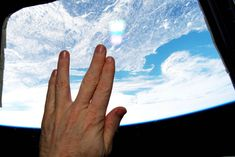 International Space Station astronaut Terry Virts (@AstroTerry) tweeted this image of a Vulcan hand salute from orbit as a tribute to actor Leonard Nimoy, who died on Friday, Feb. 27, 2015. Nimoy played science officer Mr. Spock in the Star Trek series that served as an inspiration to generations of scientists, engineers and sci-fi fans around the world. Cape Cod and Boston, Massachusetts, Nimoy's home town, are visible through the station window