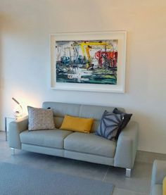 Una O'Grady painting in customer home Belgian Blue, Contemporary Frames, Amazing Paintings, Your Space, Art Gallery, House Design, Fine Art, The Originals, Canvas