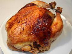 Egész töltött csirke Hungarian Cuisine, Hungarian Recipes, Hungarian Food, Baked Chicken, Chicken Recipes, Stuffed Chicken, Diy Food, Bacon, Food And Drink