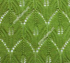 SOLO PUNTOS: Tricot hojas