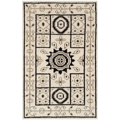 Bungalow Rose Hawke Hand-Knotted Ivory/Gray Area Rug Rug Size: 9' x 12'