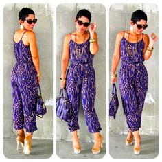 Today's Look: Abstract Print Jumpsuit  www.mimigstyle.com