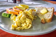 Scramble eggs with fruits La Leona Eco Lodge La Leona Ranger Station, Corcovado National Park, Osa Peninsula, Costa Rica