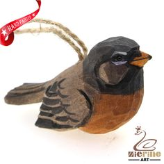 New listing! Hand-carved wooden sparrow painted decorative wall carvings ZR10047 #ZL #Ornament