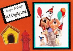 Created with Whipper Snapper Designs Stamp Bow Wow Birthday and DRS Designs stamp Hot Diggity Dog Made by Sheli