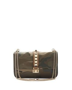 Camo Glam Lock Rockstud Medium Flap Bag by Valentino at Bergdorf Goodman.