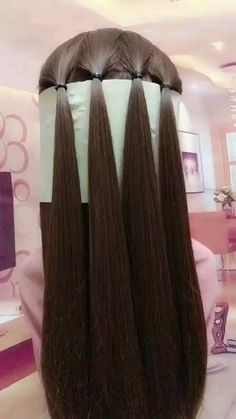 Easy Hairstyles For Long Hair, Unique Hairstyles, Girl Hairstyles, Wedding Hairstyles, Hairstyles With Braids, Medium Length Hairstyles, Super Cute Hairstyles, Quinceanera Hairstyles, Step By Step Hairstyles