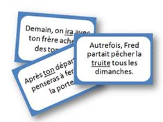 Jeu des natures des mots CE1 French Verbs, French Resources, French Immersion, Literacy Centers, Grammar, Spelling, Teaching Resources, Quotations, Language