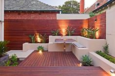 multi-level raised beds and seating