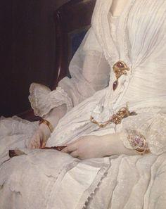Francesco Hayez - Portrait of Selene Taccioli Ruga (detail)