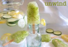 Lemonade Cucumber Spa Popsicles | MarlaMeridith.com