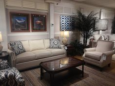 CraftMaster Rachael Ray & Paula Dean featured at Kalin Home Furnishings Ormond Beach, Living Room Seating, Furniture Showroom, Dean, Home Furnishings, Couch, Home Decor, Style, Swag