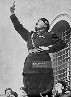 Benito Mussolini (1883-1945) - Il Duce - Italian fascist dictator addressing…