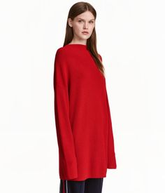 Check this out! Straight-cut sweater in a thick, viscose-blend knit. Mock turtleneck and dropped shoulders. - Visit hm.com to see more.