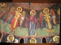 Teofan Cretanul – icoana Roman Church, Byzantine Icons, Orthodox Christianity, Catholic, Painting, Interiors, God, Angels, Art