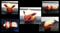 Baby Flareon - Pokemon Character - Free Amigurumi Pattern here: http://aphid777.deviantart.com/#/art/Baby-Flareon-453332010?hf=1