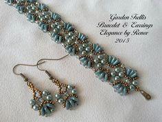 (5) Name: 'Jewelry : Garden Trellis Bracelet w/Free Earrings