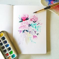 Another floral study #calligrafikas #watercolor