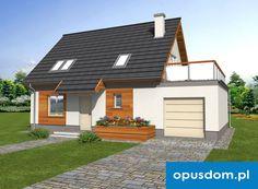 Mona w. B - projekt domu 104,6m2 autorstwa OPUSDOM.PL Houses, How To Plan, Homes, House, Computer Case, Home