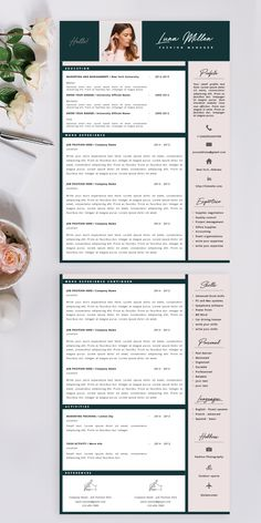 Welcome to Cvdesign.co shop! We create professional and modern resume templates with a passion for providing you with the best solutions. Click and see more! #resumetemplate #cvtemplate #bestresume Modern Resume Template, Resume Template Free, Creative Resume Templates, Resume Format, Resume Cv, Resume Layout, Resume Tips, Fashion Resume, Cv Curriculum Vitae