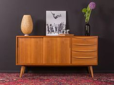 For sale: Walnut sideboard, Germany Walnut Sideboard, Credenza, Scandinavian Style, Bauhaus, Family Bathroom, 1950s, Cabinet, Storage, Furniture
