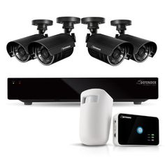 Defender Connected 8CH H.265 500GB Smart Security DVR with 4 x 480TVL 75ft Night Vision Indoor/Outdoor Surveillance Cameras (21022) - Bonus Driveway Motion Alert System Included by Defender. $499.99. Extremely Easy to Set Up and Use This Defender system functions just like a computer, with a mouse for pointing and clicking and an intuitive icon-based menu that provides prompts and coaching to assist you in navigating the system. It's even so simple to use it will b...