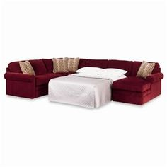 collins sectional sleeper sofa with full mattress by lazboy suffern furniture