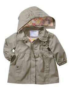 Manteau bâchette à capuche bébé fille, Bébé