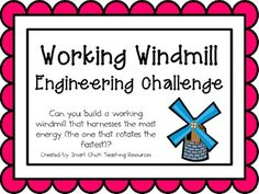 Working Windmill: Engineering Challenge Project ~ Great STEM Activity!  $