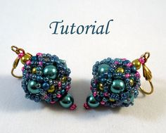 Beaded bead earrings 4
