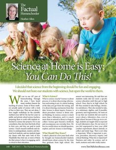 Science at Home is Easy; You Can Do This! —Dr. Heather Allen - The Old Schoolhouse Magazine - Fall 2015 - Page 168-169