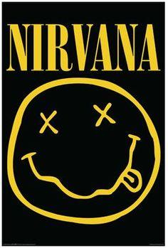 Nirvana Smiley Face Music Poster Print Kurt Cobain Logo, New, Nirvana Logo, Nirvana Lyrics, Nirvana Band, Rock Posters, Art Posters, Rock Y Metal, Grunge, Custom Screen Printing, Retro Poster
