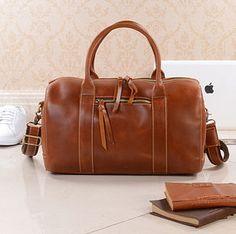 Personalised Leather Weekend Boarding Bag Gift For Her - holdalls & weekend bags