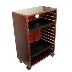 Wooden Cabinet Rosewood or Oak Color, 22'' x 16 1/4'' x 8 1/4''D. Fits 13pcs trays (SKU#  1-1P, SKU#  1-1P (W). Trays not included.