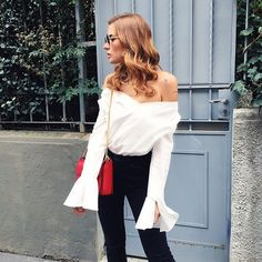 Pin for Later: 19 Outfits, bei denen sich alles um #StatementSleeves dreht Statement Sleeves Trend