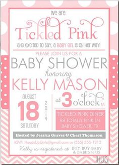 34 Best Tickled Pink Baby Shower Images Baby Girl Shower Baby