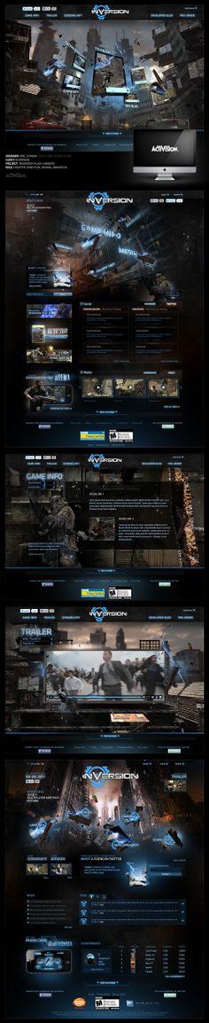 Activision: Inversion Website - Designed By Eric Jordan (www.ericjordan.com) #webdesign #graphic #design