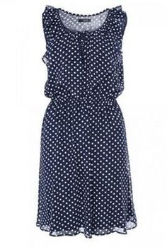Quiz Navy Polka Dot Dress