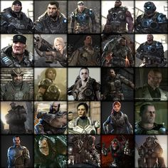 All the main characters from the Gears of War universe including and GoW Judgement. Gears Of War, Video Games, Universe, Characters, Movie Posters, Movies, Art, 2016 Movies, Videogames