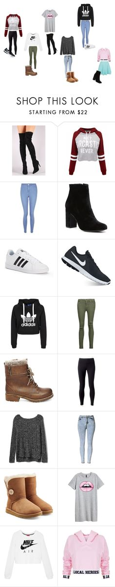 """""""Winter"""" by jaymemaronn ❤ liked on Polyvore featuring Liliana, WithChic, New Look, Witchery, adidas, NIKE, Current/Elliott, Steve Madden, Jockey and Gap"""