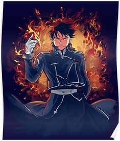 Roy Mustang is the Flame Alchemist Roy Mustang, Edward Elric, Fullmetal Alchemist Brotherhood, Der Alchemist, Mustang Wallpaper, Hero Wallpaper, Manga Anime, Anime Art, I Roy