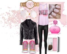 """""""Love Pink   Victoria Secret"""" by demarifoster ❤ liked on Polyvore"""