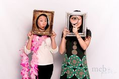 Grab some empty frames and a magnifying glass for a fun #photobooth session with unique props. #rentmyphotobooth Photo via #MeboPhoto