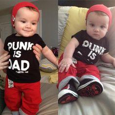 Kids Baby NOFX Old Skull Punk Long-sleeve Romper Jumpsuit Navy