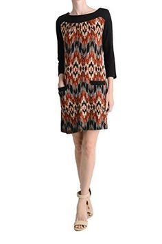 Aryeh Ladies Printed Sweater Dress SMALL BLACKORANGE -- Continue to the product at the image link. (This is an affiliate link) Best Sellers, Compliments, Image Link, Fashion Dresses, This Or That Questions, Printed, Lady, Casual, Sweaters