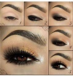 Gold and Brown: Smokey Eye Makeup Tutorial
