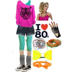 80s Day at School by stlyesavy2000 on Polyvore featuring polyvore, fashion, style, Kaliko, Tokyo Fashion, Aéropostale, Converse, Anna Lou of London, Leatherock and clothing