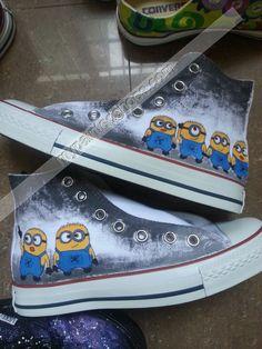 Minion Custom Shoes Minion Hand Painted Canvas Shoes
