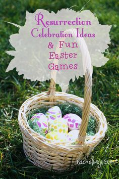 6 Resurrection Celebration Ideas and Fun Easter Games - RachelWojo.com- I love celebrating the Resurrection of Christ! Easter is such a glorious time of year!