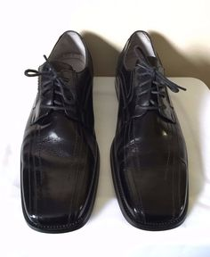 12ea3b16757 Stacy Adams Corrado Mens Black Leather Square Toe Oxfords Size 13